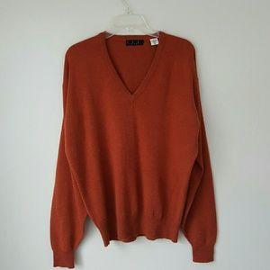 TSE 100% Cashmere V-Neck Sweater-Medium